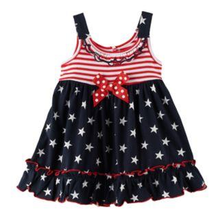 Baby Girl Sophie Rose Americana Ruffle Trim Sundress