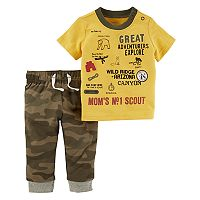 Baby Boy Carter's Explorer Graphic Tee & Camo Jogger Pants Set