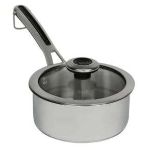 Revere Copper Confidence Core Stainless Steel Sauce Pot with Lid