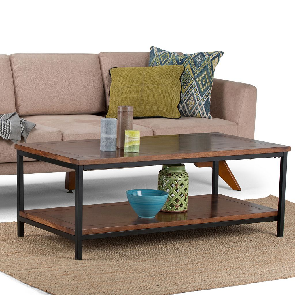 Simpli Home Skyler Industrial Coffee Table