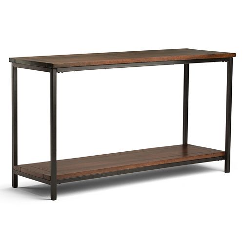 Simpli Home Skyler Industrial Console Table