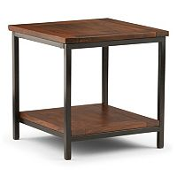 Simpli Home Skyler Industrial End Table