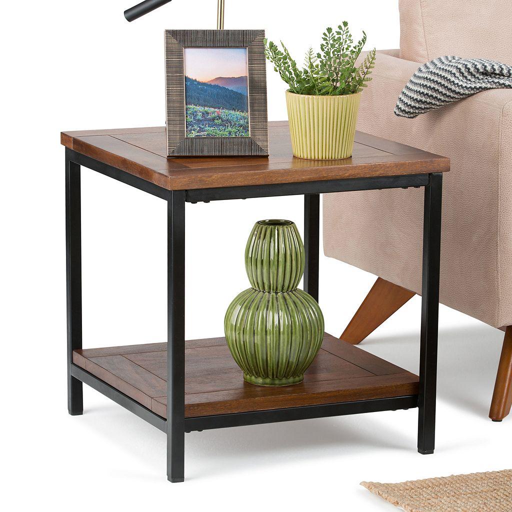 Simpli Home Skyler Industrial End Table