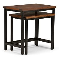 Simpli Home Skyler Nesting End Table 2 pc Set