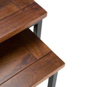 Simpli Home Skyler Nesting End Table 2-piece Set
