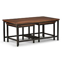 Simpli Home Skyler Nesting Coffee Table & End Table 3 pc Set