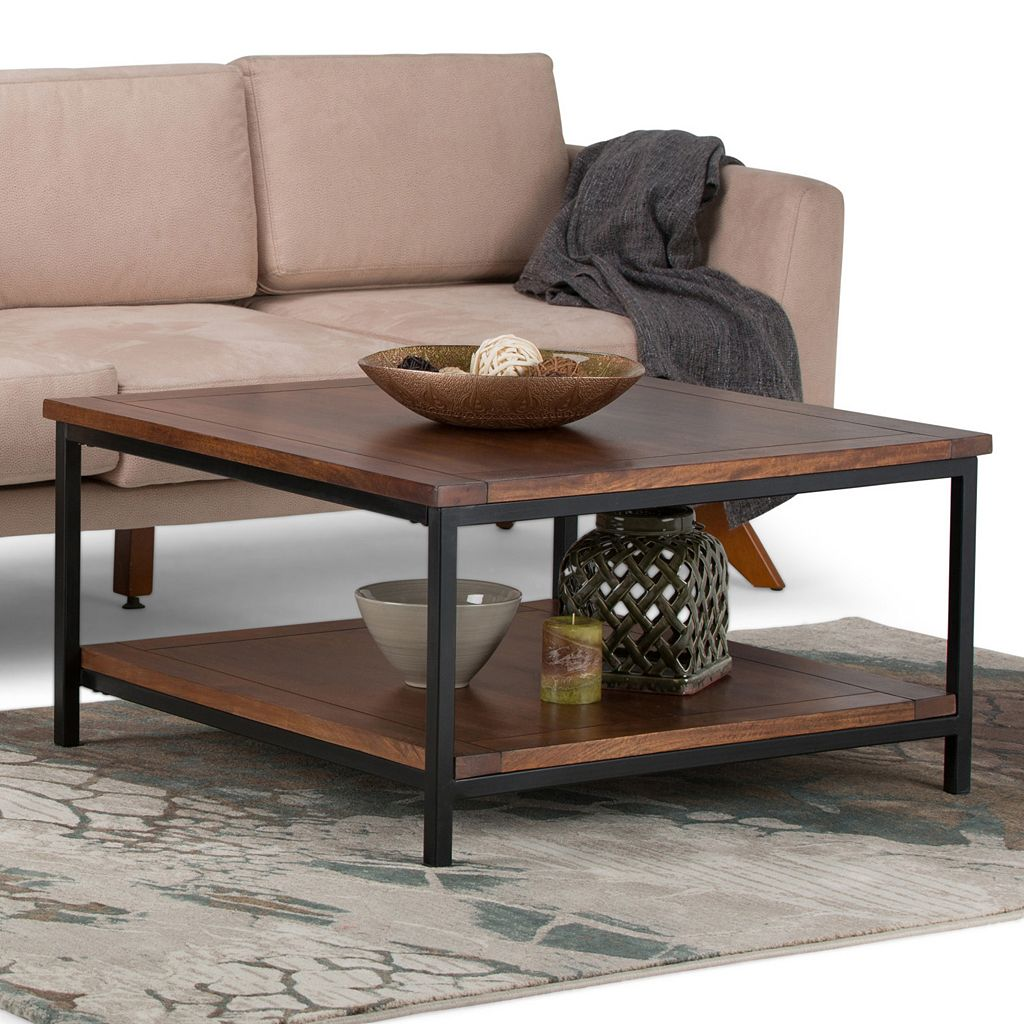 Simpli Home Skyler Square Industrial Coffee Table