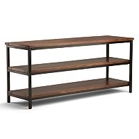 Simpli Home Skyler Industrial 3-Shelf TV Stand