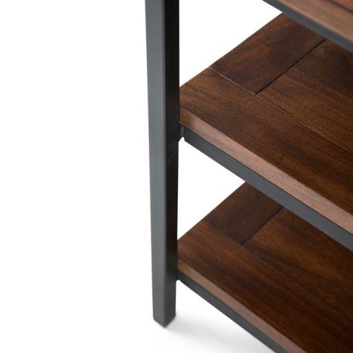 Simpli Home Skyler Industrial 3-Shelf TV Stand
