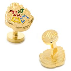 Harry Potter Hogwarts Crest Cuff Links