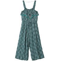 Girls 7-16 Speechless Cropped Jumpsuit with Necklace
