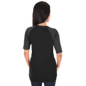 Women's Majestic Colorado Rockies AC Team Icon Raglan Tee