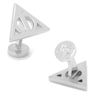 Harry Potter Deathly Hallows Silver-Tone Cuff Links