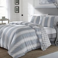 Stone Cottage 3 pc Calista Stripe Comforter Set