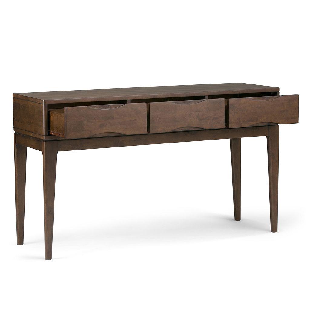Simpli Home Harper 3-Drawer Console Table