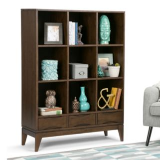 Simpli Home Harper 3-Drawer Cube Storage Shelf