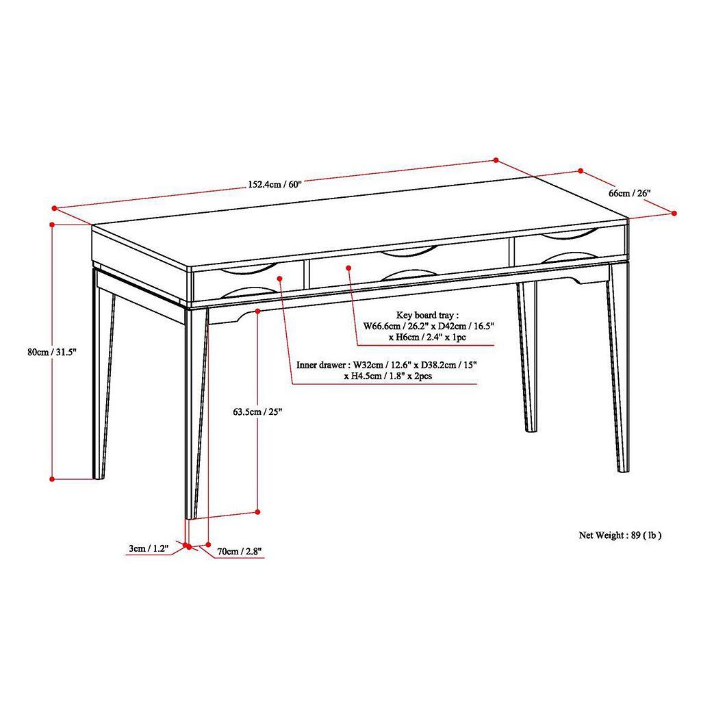 Simpli Home Harper Computer Desk