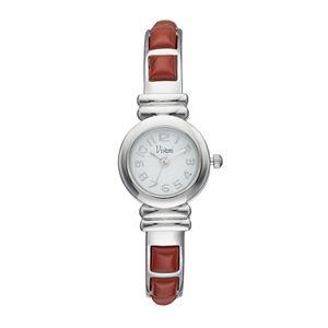 Vivani Women's Red Jasper Stainless Steel Cuff Watch