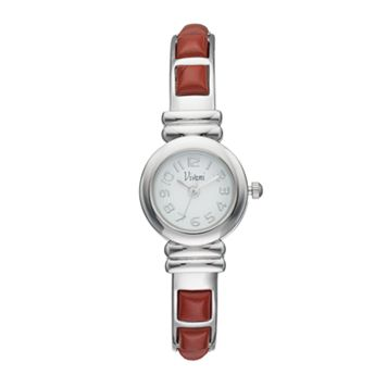 Vivani Women's Red Jasper Stainless Steel Cuff Watch