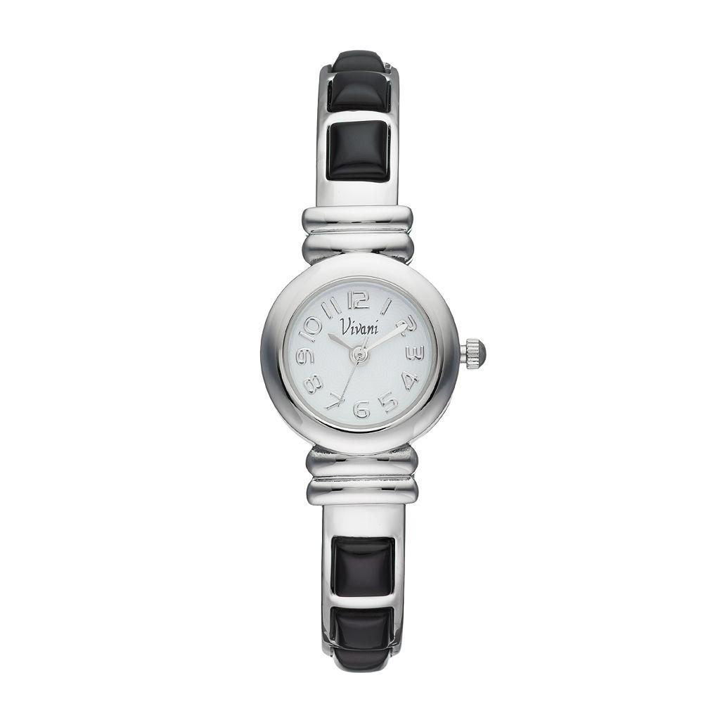 Vivani Women's Onyx Stainless Steel Cuff Watch