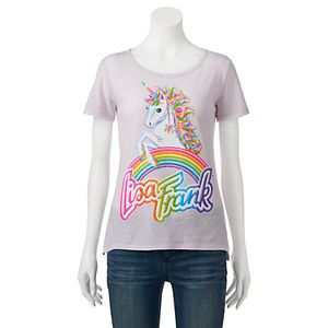 Juniors' Lisa Frank Unicorn Rainbow Graphic Tee