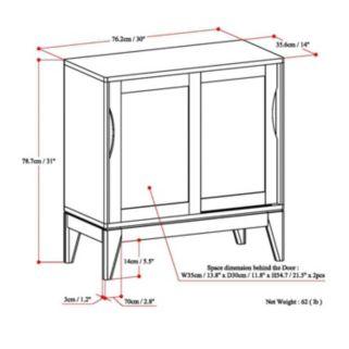 Simpli Home Harper 2-Door Storage Cabinet