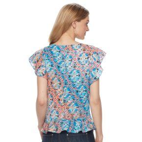 Women's Dana Buchman Flutter Sleeve Peplum Top