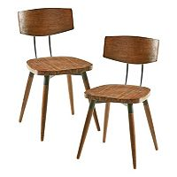 INK+IVY Frazier Wood Dining Chair 2 pc Set