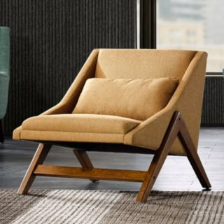 INK+IVY Boomerang Lounge Accent Chair & Pillow 2-piece Set