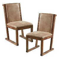 INK+IVY Easton Faux-Leather Dining Chair 2 pc Set