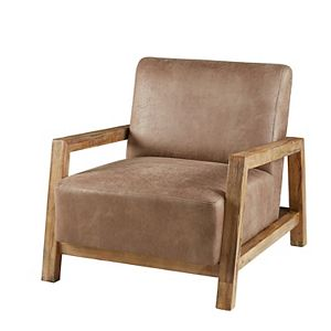 INK+IVY Easton Faux-Leather Lounge Arm Chair