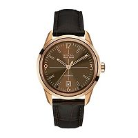 Bulova Men's Accu Swiss Leather Automatic Watch - 64B124