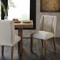 INK+IVY Portland Wingback Dining Chair 2 pc Set