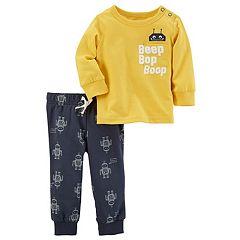 Baby Boy Carter's 'Beep Bop Boop' Tee & Robot Pants Set
