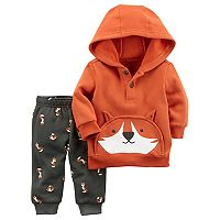 Baby Boy Carter's Fox Pullover Hoodie & Printed Pants Set