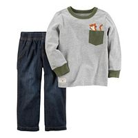 Baby Boy Carter's Tiger Pocket Tee & Denim Pants Set