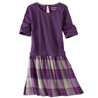 Girls 4-10 Jumping Beans® Roll Cuff Knit & Woven Dress