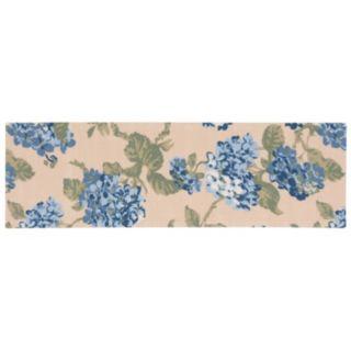 Waverly Sun N' Shade Yellow Blue Floral Indoor Outdoor Rug Runner - 1'10'' x 6'