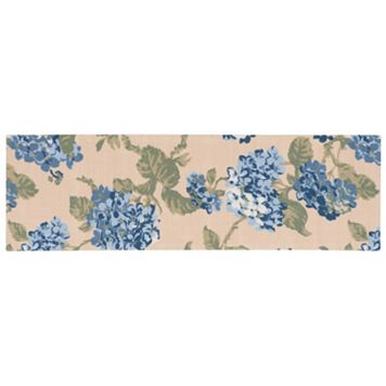 Waverly Sun N' Shade Yellow Blue Floral Indoor Outdoor Rug Runner - 1'10'' x 6'