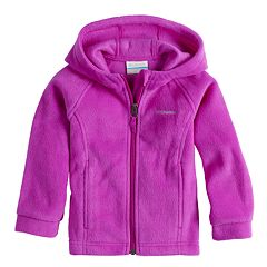 Baby Girl Columbia Three Lakes Fleece Hoodie Jacket