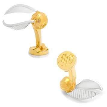 Harry Potter Golden Snitch Cuff Links
