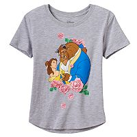Disney's Beauty & The Beast Belle Girls 7-16 Rose Graphic Tee