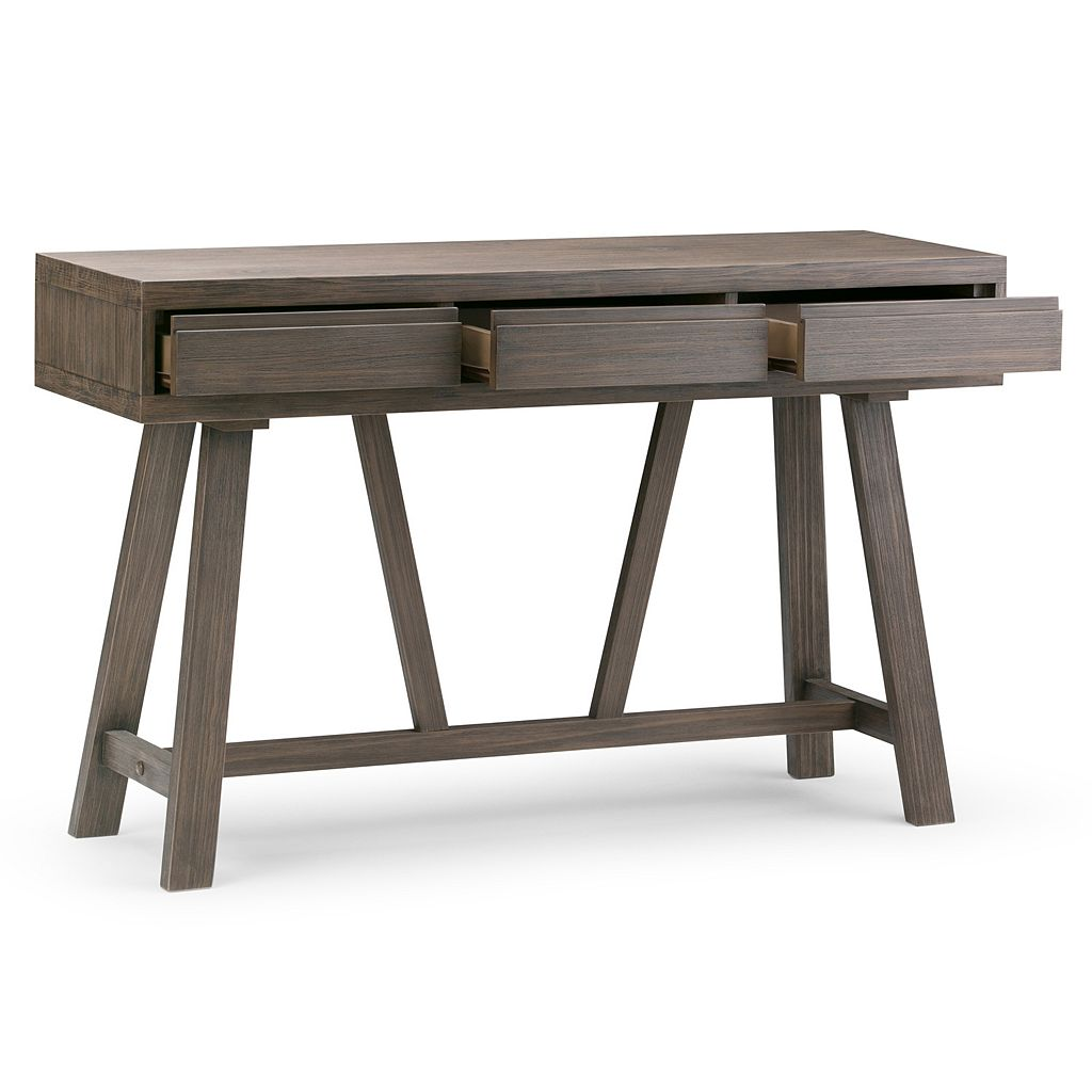 Simpli Home Dylan 3-Drawer Console Table
