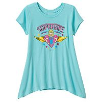 Girls 7-16 DC Comics Super Hero Girls Supergirl Sharkbite Hem Graphic Tee