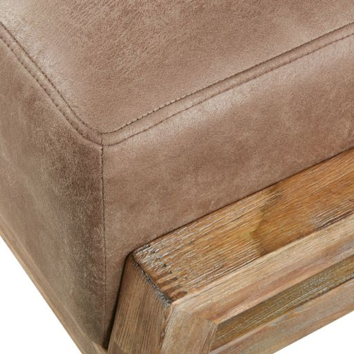 INK+IVY Easton Faux-Leather Ottoman