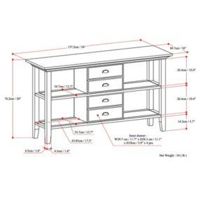 Simpli Home Redmond 4-Drawer Console Table