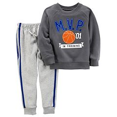 Baby Boy Carter's MVP In Training Pullover Top & Striped Pants Set