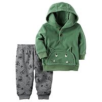 Baby Boy Carter's Monster Hoodie & Printed Jogger Pants Set