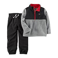 Baby Boy Carter's Fleece 1/4-Zip Pullover & Jogger Pants Set