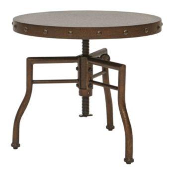 INK+IVY Soho Adjustable Industrial End Table